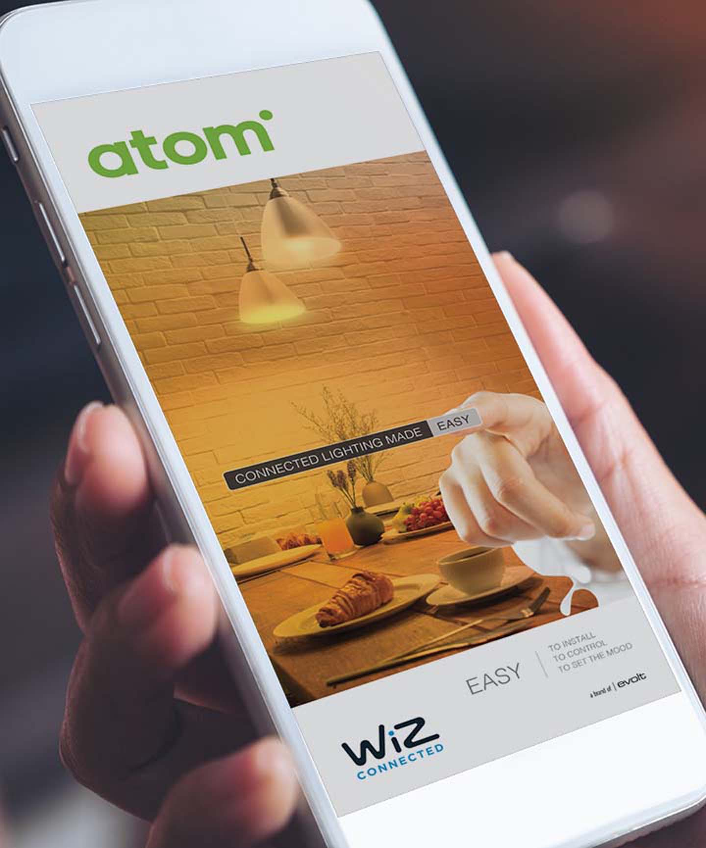 Atom Wiz Product Launch – Mobile app Ad | Trade Advertising