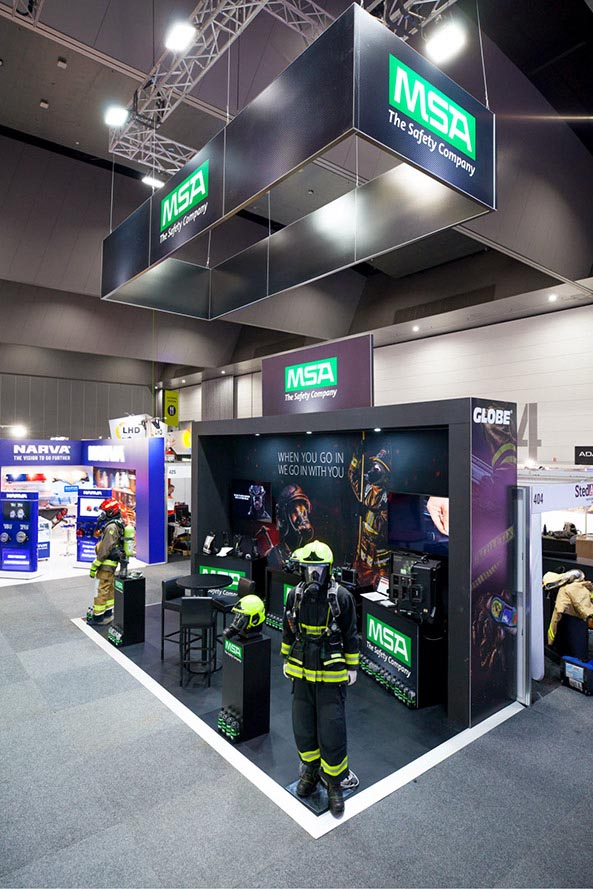 MSA Safety Company – Exhibition stand – Design and print production –  Trade Advertising