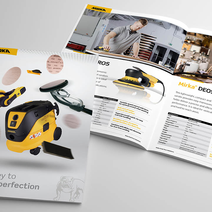 Tenaru – Mirka Brochure – Trade brochure designed by Trade Advertising